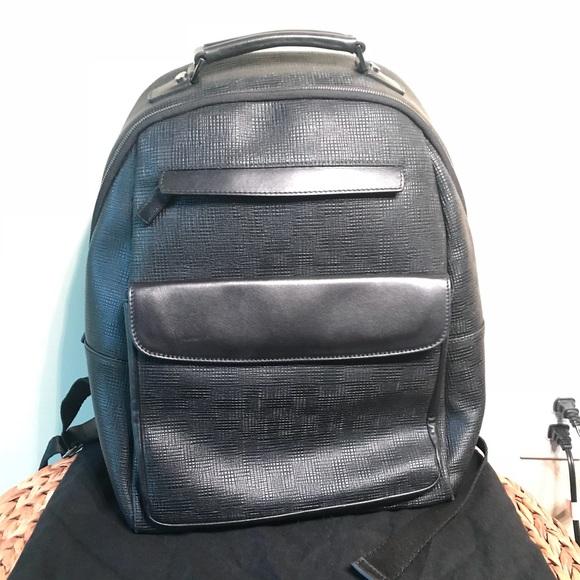 65fb8e9a2594fa Saks Fifth Avenue Bags | Black Leather Saks Backpack | Poshmark